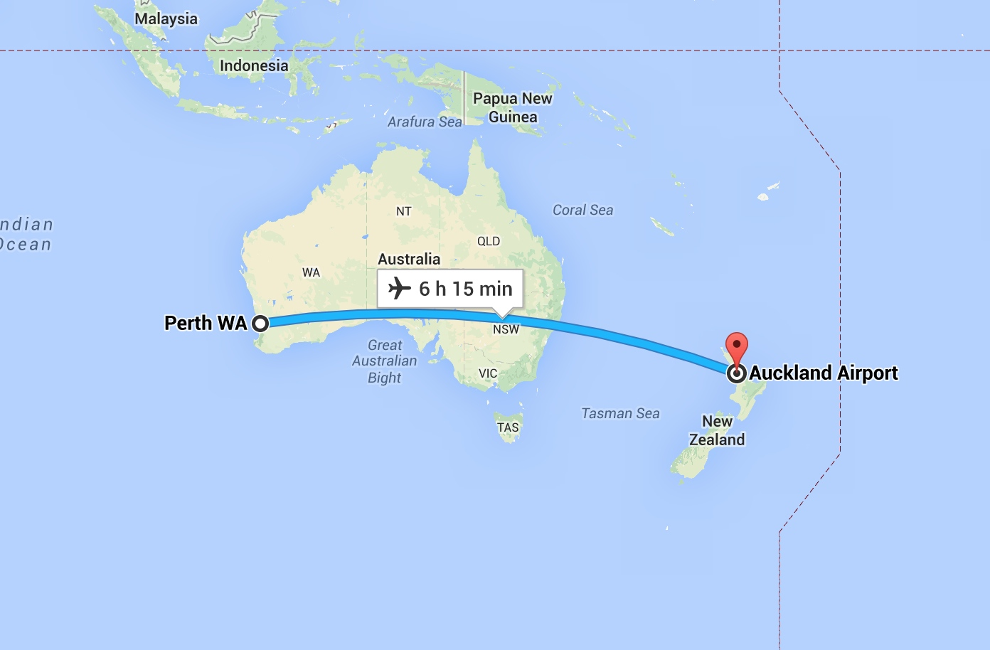 auckland to perth