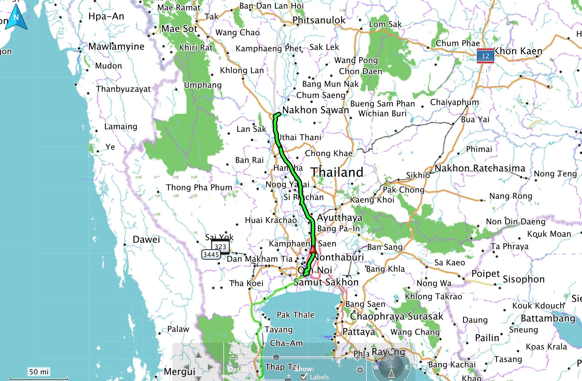 Phitsanulok Thailand Map.Bangkok To Phitsanulok Deer Park